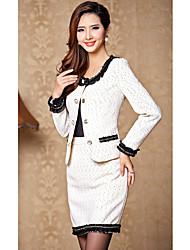 Women's Coats & Jackets , Tweed Casual/Work Duolabana