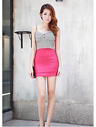 Contrast Hanguoyi Donna di colore con scollo a V Vestito aderente