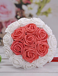 18 Heads Round Shape Wedding Bridesmaid Bouquet(More Colors)