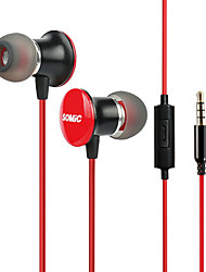 Somic MH410i Stereo In-Ear Music Earphone with Mic and Remote for MP3/iPod/iPad/DJ/iPhone