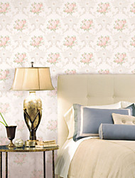 Classic Roses Bloom Non-woven Wall Paper