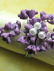 Acryl Kralen Bloemen Servetring, Dia 4,5 cm