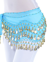 Belly Dance Belt Women's Training Chiffon Beading / Coins 1 Piece Hip Scarf