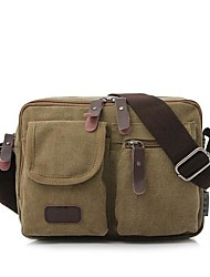 Men Bags All Seasons Canvas Shoulder Bag with for Casual Black Coffee Brown Green Khaki