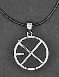EXO Группа цикло-Pattern Серебряное ожерелье