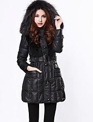 Inverno Skim Raccoon Fur Coat Collar da Mulher
