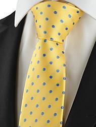 Pois Blu Oro Classic Mens Tie Abiti Cravatta Wedding Souvenir KT1046