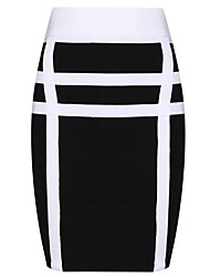 Venda quente da Moda Black and White Sexy Bodycon Vestido Bandage