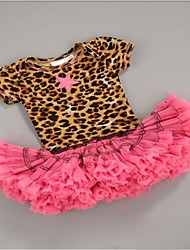 Girl's Dress,Leopard Chiffon Summer