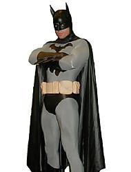 Enfriar Batman Negro y Gris Poliéster Carnaval Fiesta de Disfraces de Hombre