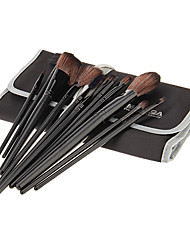 MEGAGA Black Case 2in1 Cosmetic Brush Set