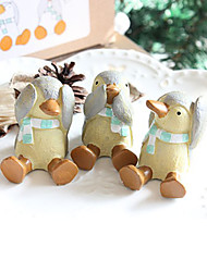 """Do not listen,look and speak"" Penguin Keepsake - Set of 3"