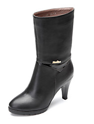 Leather Women's Stiletto Heel Mid-Calf Fashion Boots(More Colors)