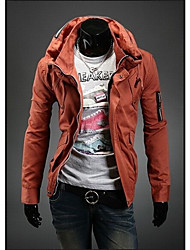 ZHELINDouble Collar Leisure Coat Color Zipper Men'S Jacket