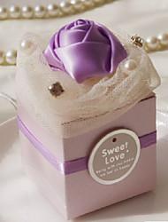 Pearl Paper boîte de faveur avec Stain Rose - Lot de 12 (plus de couleurs)