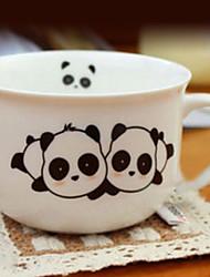 Panda Coffee Mug,Porcelain 8oz