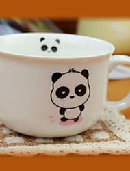 Dancing Panda Coffee Mug,Porcelain 8oz