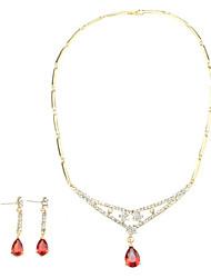 Koreaanse stijl kristal holle bloem ketting& oorbellen sieraden set