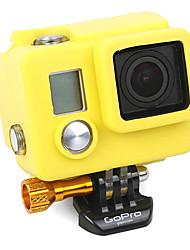 Funda de silicona amarilla para GoPro HD Hero 3 Plus / 3 +