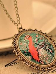 J & G Vintage-Blumenmuster-Halskette