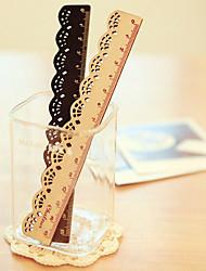 Spitzen-Design Holzlineal (schwarz)