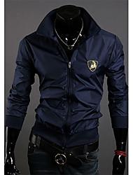 Shangdu Личная Стенд Воротник Lamborghini LOGO Короткая куртка (синий)