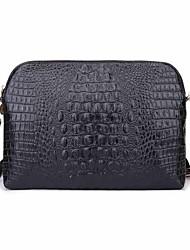 Women's Crocodile Pattern Fashion Genuine Leather Messenger  Handbags Clutches