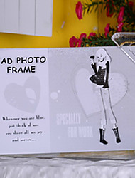 """6.5""""H Contemporary Style Black Table Top Picture Frame"""