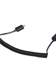 Charging  Data Transmission Micro Spring Cable for Samsung/Nokia/HTC/ MP3 Player 0.8 meters (Black)