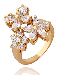 XINXIN Frauen-18K Gold Zirkon Ring J1176