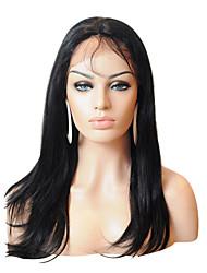 20 «la qualité superbe 100% Indian Remy Hair pleine perruque de dentelle soyeuse droite