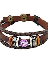 leather Charm Bracelets Unisex Leather Wrap Bracelets