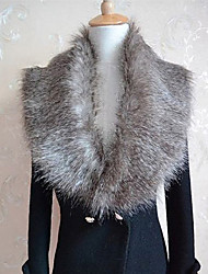 Cherry Women's Gray Fur Cape