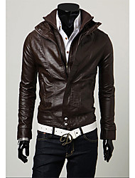 Shangdu Casual Stand Collar Short Jacket(Coffee)