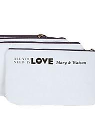 Motif personnalisé cadeau crémeux de toile d'amour Porte-monnaie avec des noms