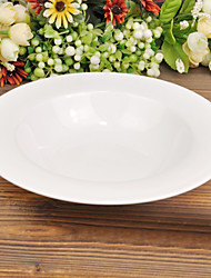 Italian Style Appetizer and Dessert Plate, Bone China Diameter 21.5cm