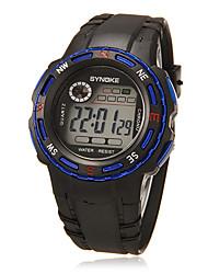 Kinder-LCD-Digital-Multifunktions-Gummiband-Lauf Wandern Armbanduhr (verschiedene Farben)