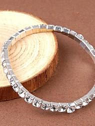Women's Crystal Rhinestone Elastic Bangle Bracelet Christmas Gifts