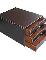 Fashion 3 Layer Solid Leather Storage Cabinet - 2 Colors Avaliable