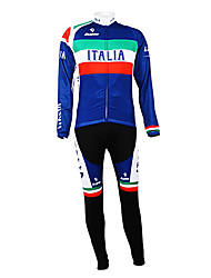 Kooplus - Italian National Team Cycling Long Sleeve Fleece Bib Suit