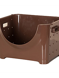 Fashion Big Coffee Plastic Storage Basket