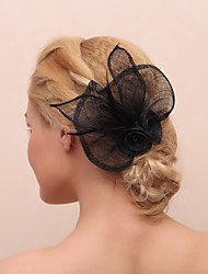 Women's Feather/Fabric Headpiece - Casual Flowers