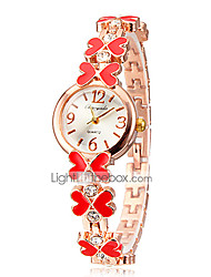 WELES Kids' Heart Pattern Chained Watchband Bracelet Watch