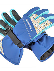 CNHIMALAYA Waterproof Ocean Blue Ski Gloves