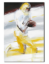 Hand Painted Oil Painting People Football Player with Stretched Frame