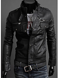 Shangdu Stand Collar Multi-Zipper Jacket(Black)