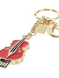 8G Metal Guitar Shaped USB Flash Drive