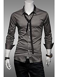 Camisa formal do estilo mercerizado do algodão dos homens