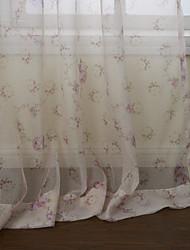 país dos paneles floral rosado botánico salón cortinas transparentes tonos
