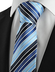 New strisce Blu Navy Mens Tie Abiti Cravatta Partito per Wedding Souvenir